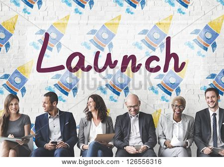 Launch Begin Introduce Startup Campaign Kick Off Concept
