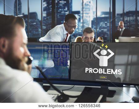 Problems Afraid Anxious Nervous panic Reaction Concept