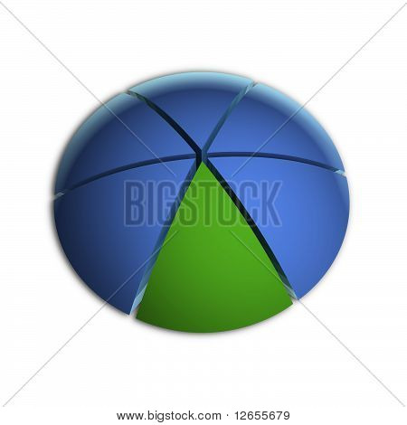 One Sixth Business Pie Chart
