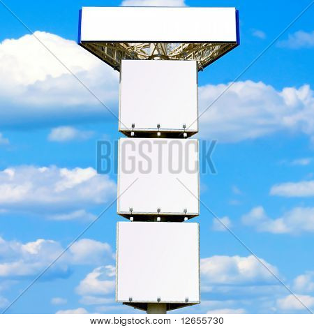 Quadruple advertisement billboard - giant 30 meter mast