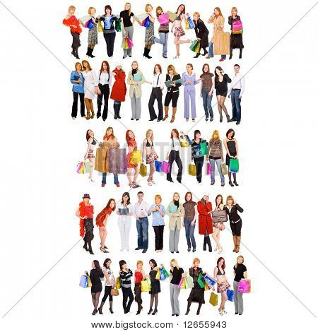 five rows of humans - see more of