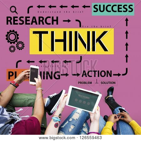 Think Thinking Plan Planning Emotions Concept