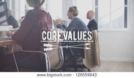 Core Values Principles Morals Concept