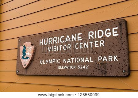 Hurricane Ridge at Olympic National Park in Washington