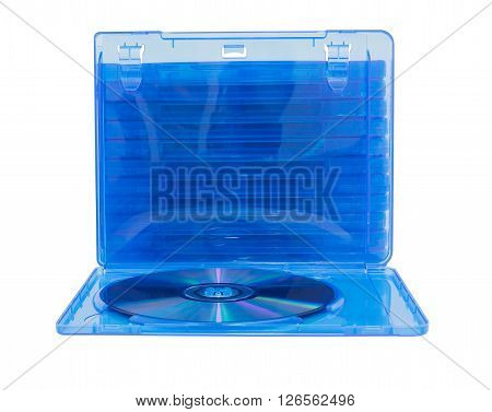 Dvd Box With Disc On White