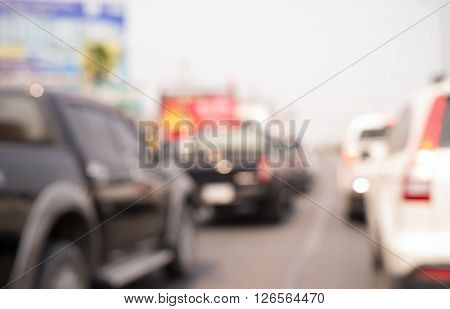 Abstract Blurred Background Car Parking.