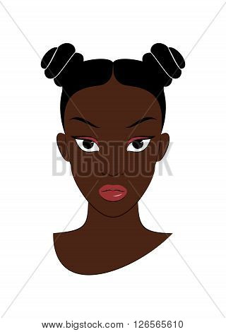 Afro Girl. Vector Illustration of a Afro Girl