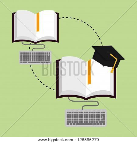 graduation  concept with icon design, vector illustration 10 eps graphic.