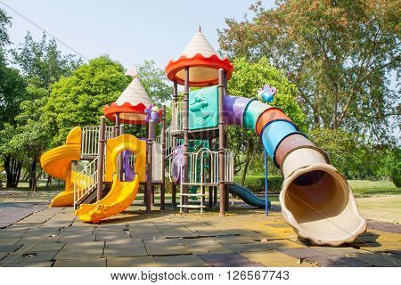 Big playground for child in the public park