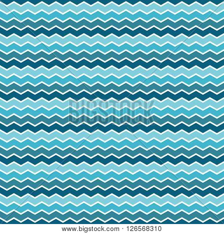 Trendy simple seamless zig zag pattern vector illustration. Creative luxury gradient color zigzag aqua. Print label banner. Summer winter spring fall autumn background.