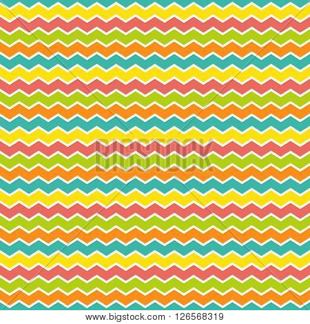Seamless zigzag pattern vector illustration. Zigzag seamless colorful background.
