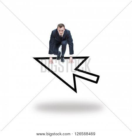 Arrow on white