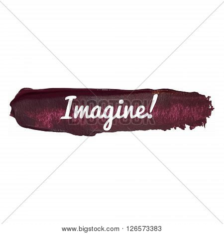 Imagine Vector Word Hand Drawn Illustration Icon Isolated Quote