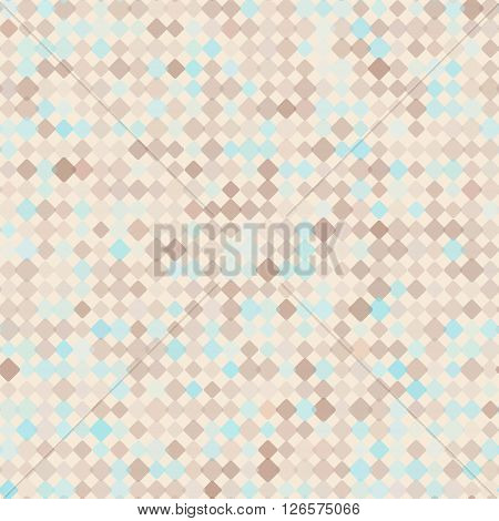Pattern with mixed small spots in golden brown and mint colors . Seamless vector background