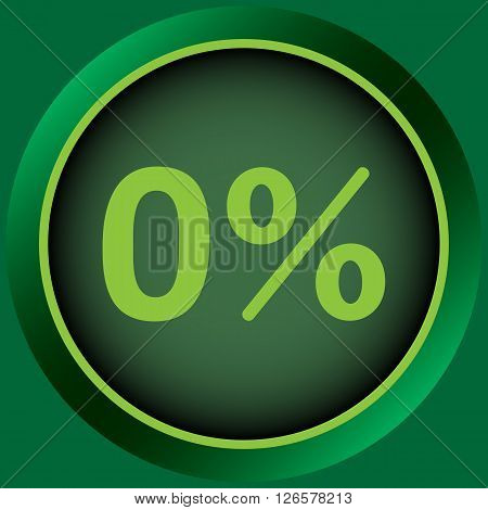 Icon with zero and a symbol of percent