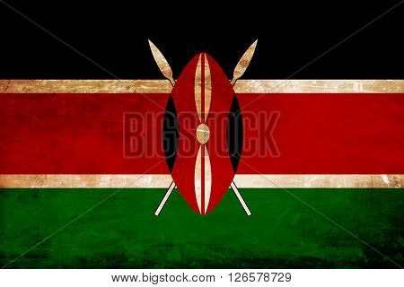 kenya flag with some soft highlights and folds