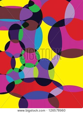 Abstract circle colorful composition. Digital background vector illustration.