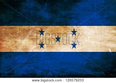 Honduras flag with some soft highlights and folds
