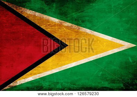 Guyana flag with some soft highlights and folds