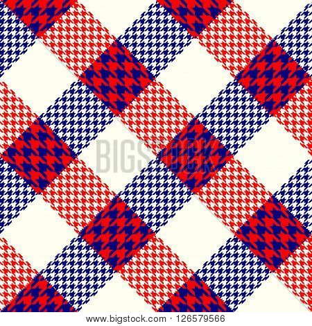 Seamless background pattern. Abstract diagonal plaid pattern. Plaid of a Hounds-tooth patterns.