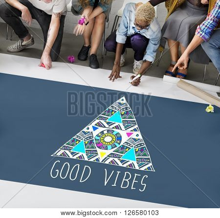 Good Vibes Positive Thinking Optimistic Concept