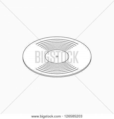 Compact disk icon in isometric 3d style isolated on white background