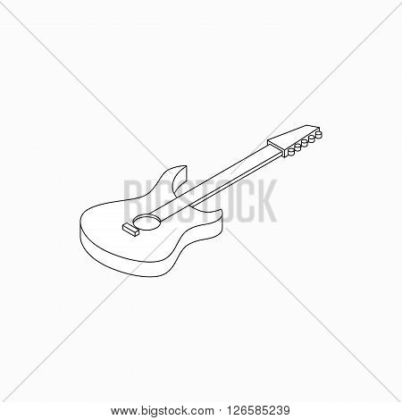 Bass guitar icon in isometric 3d style isolated on white background