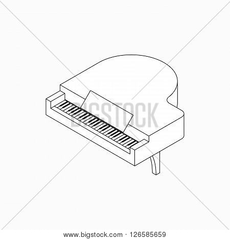 Piano icon in isometric 3d style isolated on white background