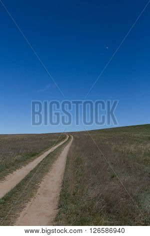 Road In The Middle Of The Steppe