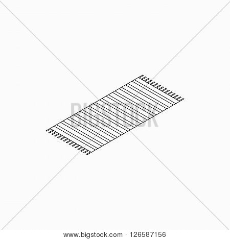 Beach towel icon in isometric 3d style isolated on white background