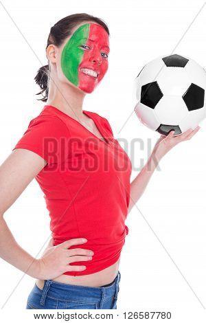 Female Portuguese Soccer Fan