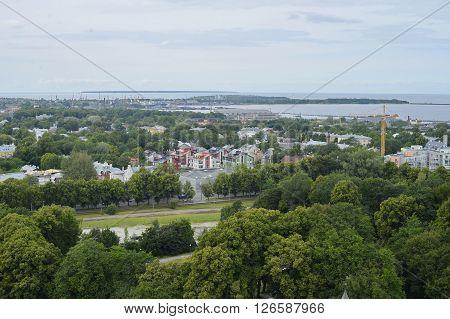 View at the Tallinn suburbs in Estonia from the Teletorn - Tallinn TV Tower.