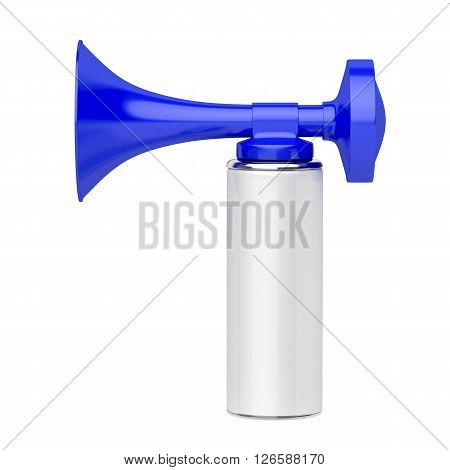 Portable air horn isolated on white background, 3d illustration