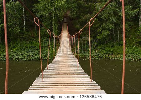 Suspended Bridge Above The River
