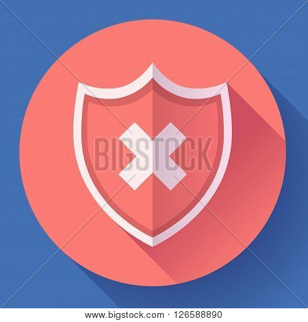 shield icon - protection symbol. Flat design style