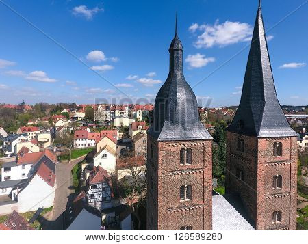 Rote Spitzen Altenburg medieval town red towers thuringia
