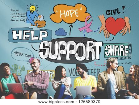 Support Help Humanitarian Advice Collaboration Concept
