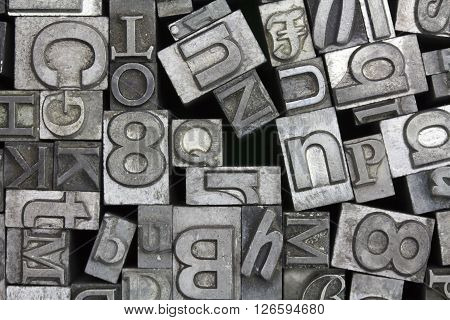 Close Up Of Typeset Letters