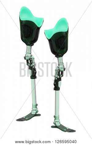 artificial limb under the white background