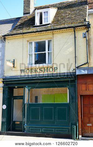 Old workshop in english street kings lynn