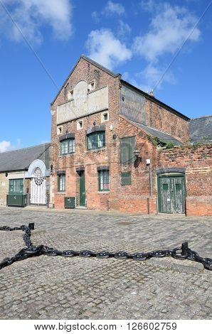 Old derelict brick warehouse kings lynn norfolk
