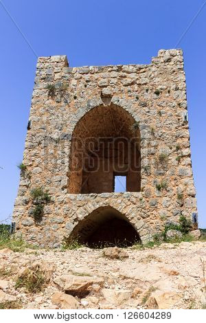 Watchtower of the castle Monfort in northern Israel