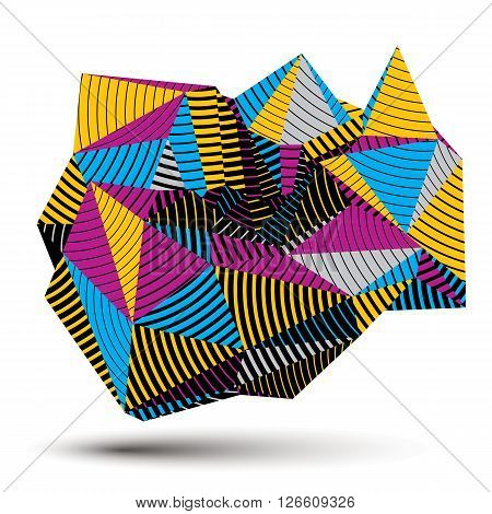 Geometric Colorful Polygonal Striped Vector Structure, Modern Science And Technology Element. Archit