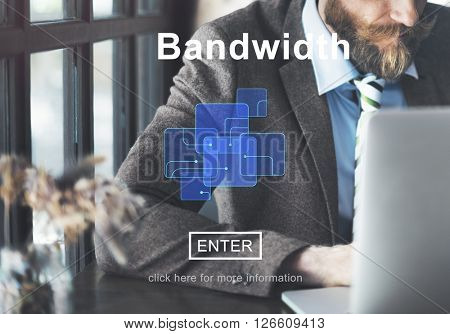 Connection Data Bandwidth Network Technology Concept