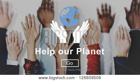 Help Our Planet Nature Preservation Environment Concept