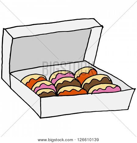 An image of a box of doughnuts.