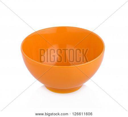 ceramic bowl on white background empty dishware