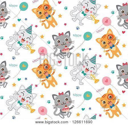 Childish Seamless Pattern With Cute Cats. Colorful Kids Background In Vector. Children Moods. Cute Cats Images. Cute Cats Plush. Cute Cats Compilation. Cute Cats Memes. Cute Cats Meowing.