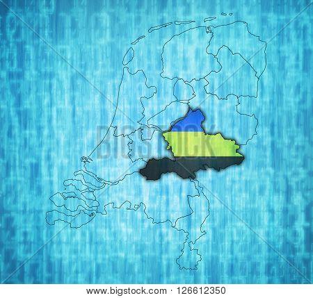 Gelderland On Map Of Provinces Of Netherlands