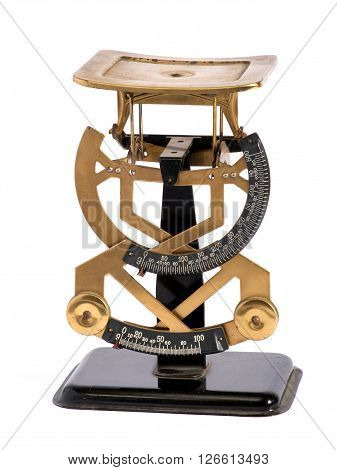 Vintage Brass Letter Scale For Weighing Letters